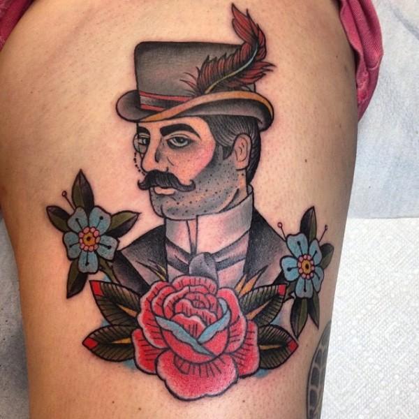 Victorian Man Tattoo Tattoos by Kelly McMur...